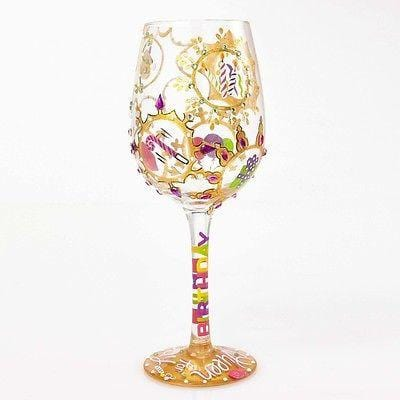 Lolita Wine Glasses Queen For A Day #4054095 NIB FREE SHIPPING 48 STATES