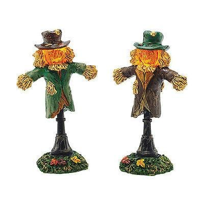 Dept 56 Halloween 2015 Lit Scarecrow Lamps Set/2 #4047617 NIB FREE SHIP 48 STATE
