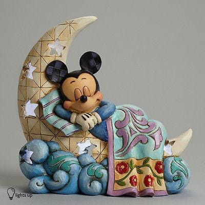 Jim Shore Disney 2014 Mickey On Moon Nightlight #4043662 NIB FREE SHIPPING OFFER