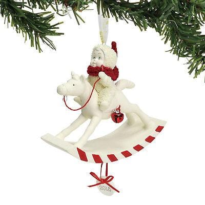 Dept 56 Snowbabies 2018 Peppermint Pony Ornament #6001888 NEW FREE SHIP 48 STATE   2018