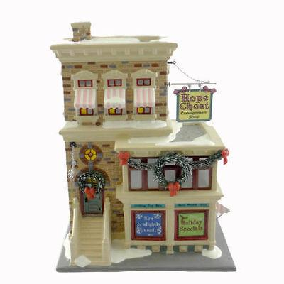 Dept 56 Snow Village Hope Chest Consignment Shop 55367 NIB FREE SHIP 48 STATES