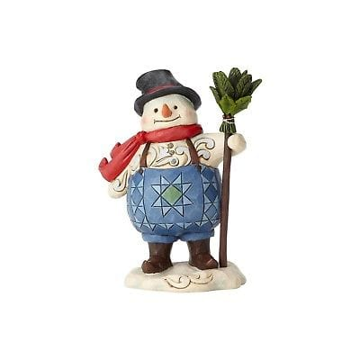 Jim Shore HWC 2018 Pint Size Suspenders Snowman #6001491 NEW FREE SHIP 48 STATES    2018