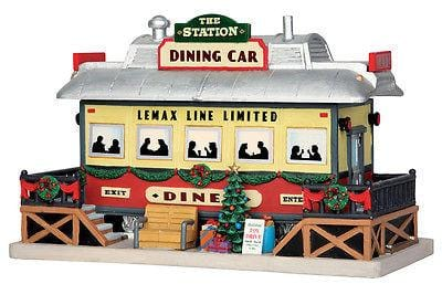 Lemax 2015 The Station Dining Car #55975 NIB FREE SHIPPING 48 STATES