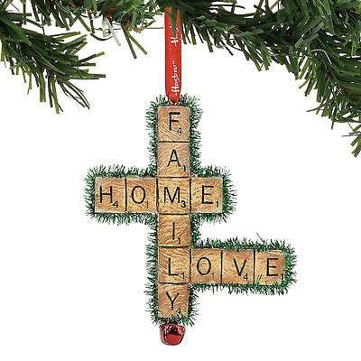 Dept 56 2017 Hasbro Family, Love, LIfe Scrabble Ornament #4057984     FREE SHIP