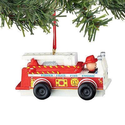 Dept 56 2015 Fisher Price Fire Truck Ornament #4045025 NEW FREE SHIP 48 STATES