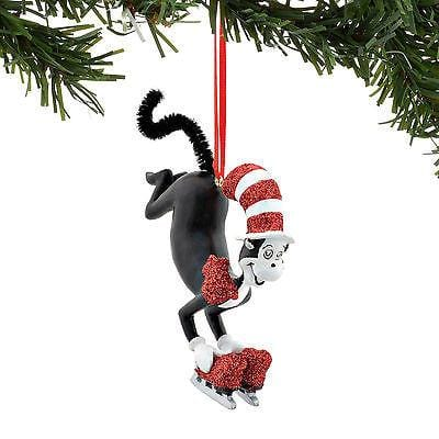Dept 56 2016 Dr. Seuss Cat On Skates Ornament #4053264    NEW FREE SHIP 48 STATES
