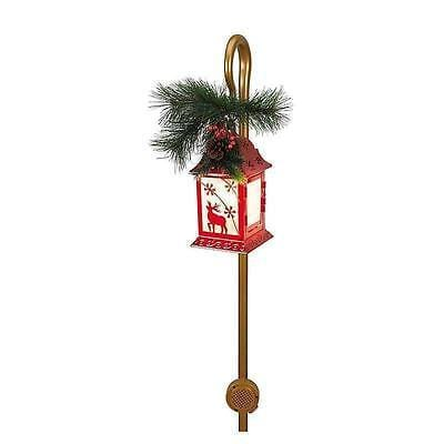 Mr. Christmas Motion Aciivated Musical Lighted Lantern w/Shepherds Hook NIB