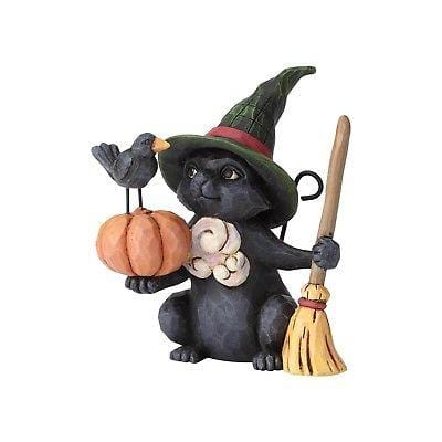 Jim Shore HWC 2018 Mini Witch Cat w/Pumpkin #6001551 NIB FREE SHIP 48 STATES   2018