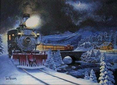 Mr. Christmas Illuminated Canvas Train #10272 NIB FREE SHIPPING OFFER