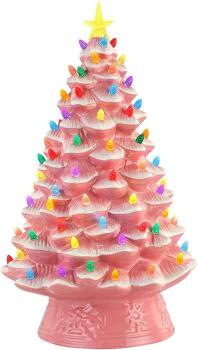 "Mr. Christmas Nostalgic Christmas Tree 18"" Pink   #19304  Free Shipping"