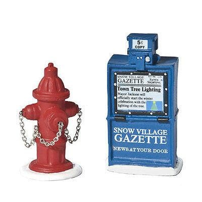 Dept 56 Fire Hydrant, Paper Box #809013 FREE SHIPPING 48 STATES