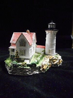 Harbour Lights Lighthouse Cape Needick, ME #141 SIGNED FREE SHIPPING CLEARANCE