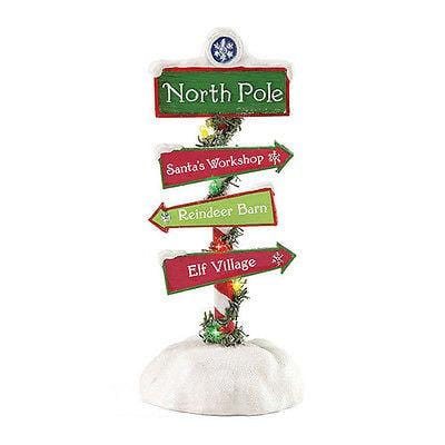 Possible Dreams Clothtique 2015 Santa's North Pole Sign #4049276 NIB FREE SHIP