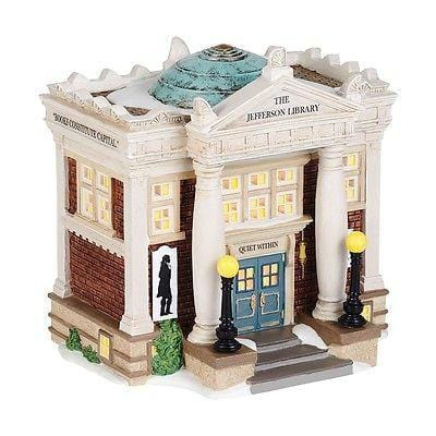 Dept 56 New England 2014 The Jefferson Library #4036529 NIB FREE SHIP 48 STATES