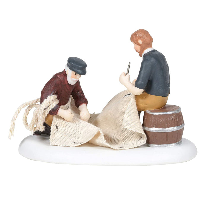 New England Village Mending the Sails  #6005423  Free Shipping