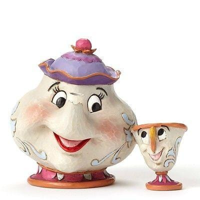 Jim Shore Disney Traditions 2015 Mrs. Potts & Chip #4049622 NIB FREE SHIP 48 STA