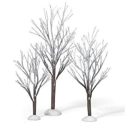 Dept 56 First Frost Trees Set/3 #800007 NIB FREE SHIPPING 48 STATES