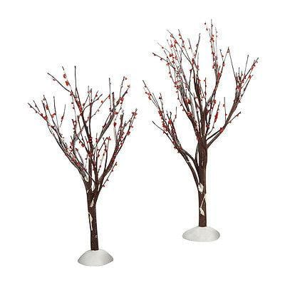 Dept 56 2011 Winter Berry Trees Set/2 #4020263 FREE SHIPPING 48 STATES