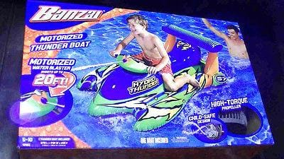 Banzai Motorized Thunder Boat w/Water Blaster Propelled 12V Motor NIB
