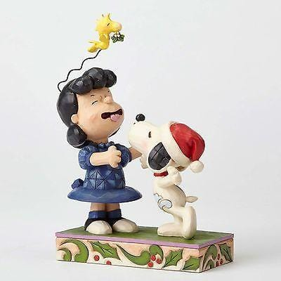 Jim Shore Peanuts 2016 Snoopy Kissing Lucy Mistletoe #4052720    FREE SHIP 48