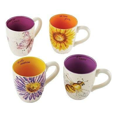 Dept 56 Garden 2014 Mug Inspirational Set/4 #4050874 NEW FREE SHIPPING 48 STATES