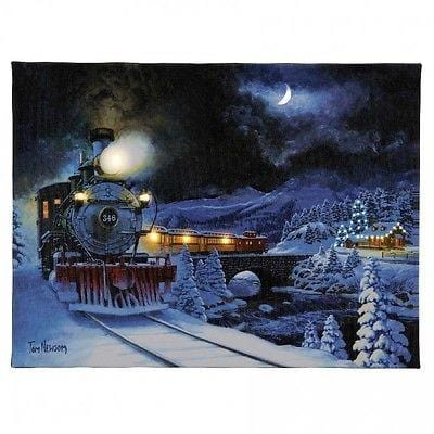 "Mr. Christmas Illuminart Canvas Christmas Express 12"" x 16"" #10738 NEW"