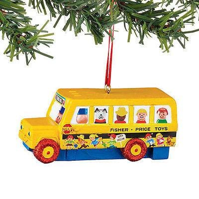 Dept 56 2015 Fisher Price Little People Bus Ornament #4045022 NEW FREE SHIP 48