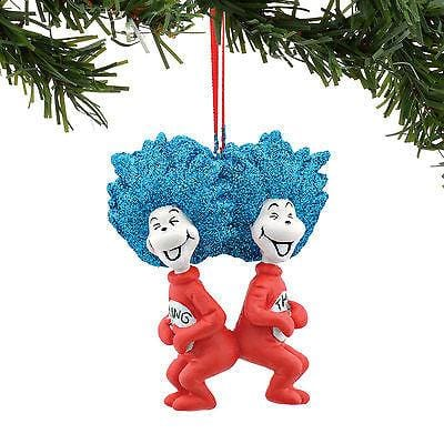 Dept 56 2016 Dr. Seuss Thing 1 & 2 Laughing Ornament #4053264      FREE SHIP 48