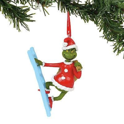 Dept 56 Grinch 2018 Grinch On A Ladder Ornament #6000305 NEW FREE SHIP 48 STATES  2018