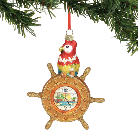 Margaritaville 2018 Parrot At The Helm Ornament #6000488 NEW FREE SHIPPING   2018
