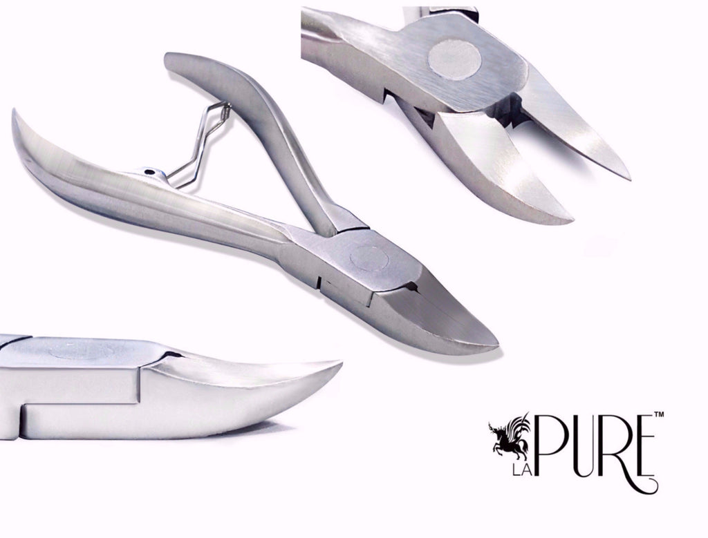 LA PURE Professional Heavy Duty Nail Clippers/Nippers for Thick and ...