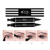 Original Eyeliner Stamp by LA PURE (2 Pens) - 2 double-sided pens, winged liquid eyeliner stamp & pencil, Vamp style wing, smudgeproof, waterproof, long-lasting, No Dripping (8mm Casual Flick)