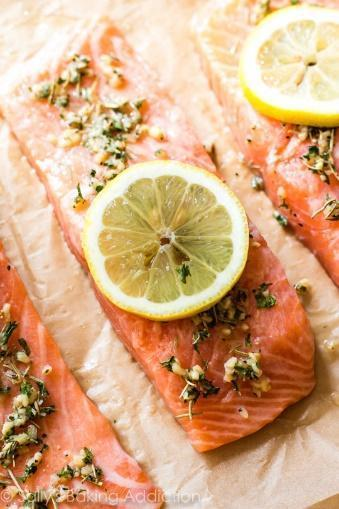 Low FODMAP Baked Lemon Herb Salmon Recipe