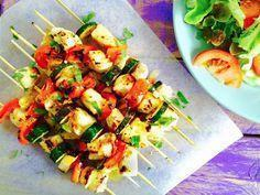 Low FODMAP Chicken & Veggie Skewers Recipe