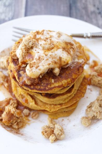 Low FODMAP Pumpkin Pancake with Granola & Yogurt Recipe