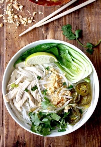 Low FODMAP Rice Noodles Soup with Chicken & Bok Choy Recipe