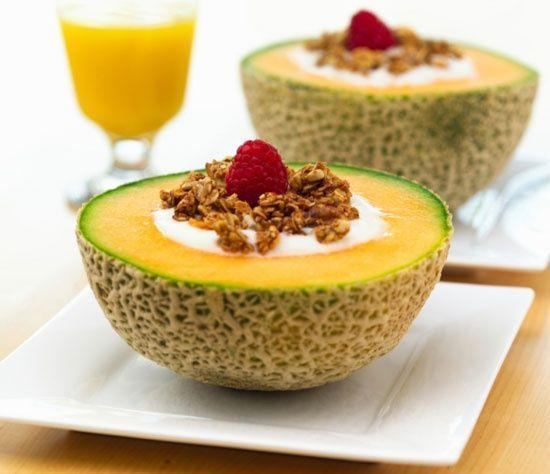 Low FODMAP Cantaloupe Granola Bowl Recipe