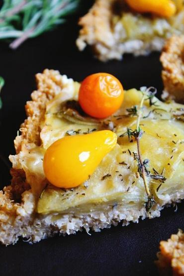 Low FODMAP Potato Tart with Quinoa Crust Recipe