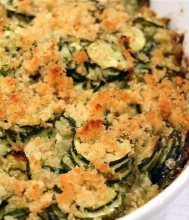 Low FODMAP Zucchini and Bacon Gratin Recipe