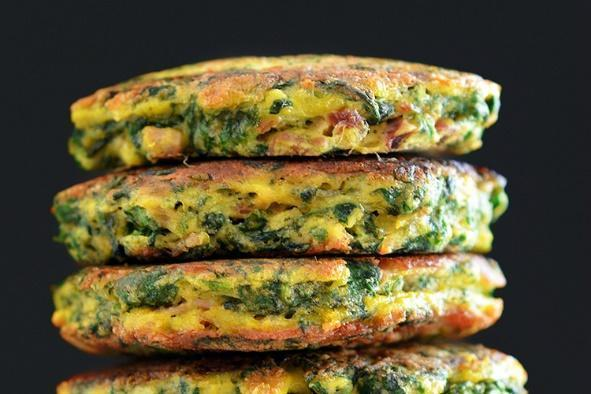 Low FODMAP Egg Foo Young (Spinach, Egg, Ham Pancakes) Recipe