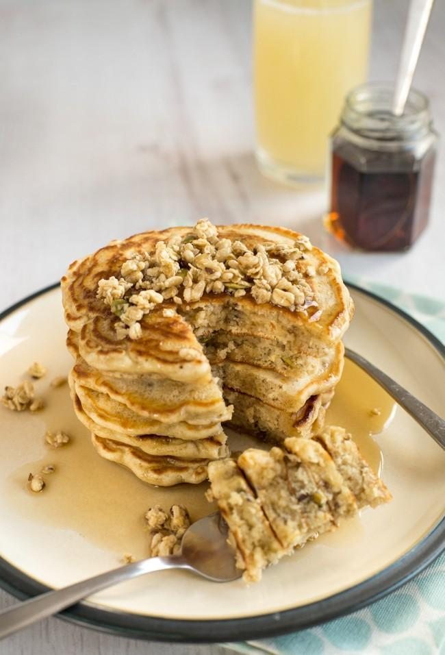 Low FODMAP Granola Pancake Recipe