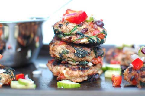 Low FODMAP Greek Chicken Burgers Recipe