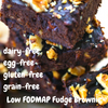 Low FODMAP Fudge Protein Brownie