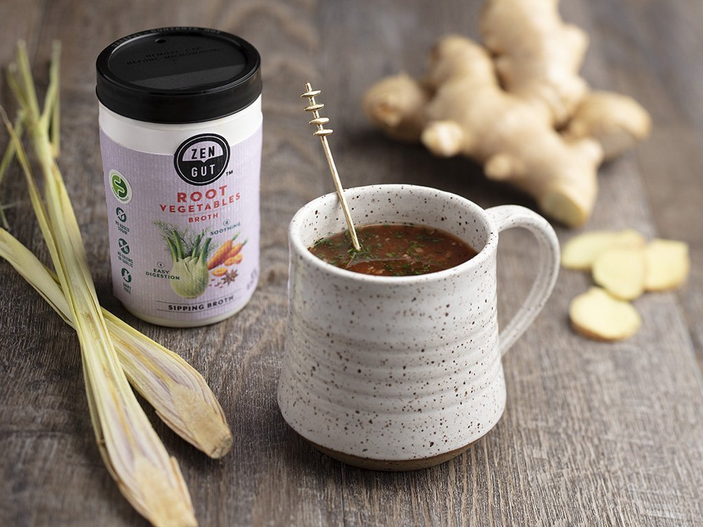 Low FODMAP Lemongrass and Ginger Broth Infusion Recipe