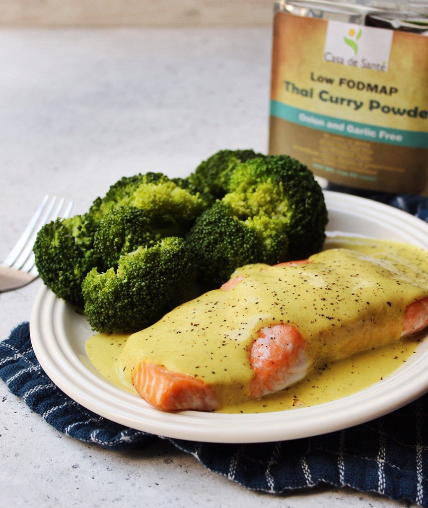 Low FODMAP Coconut Curry Salmon Recipe
