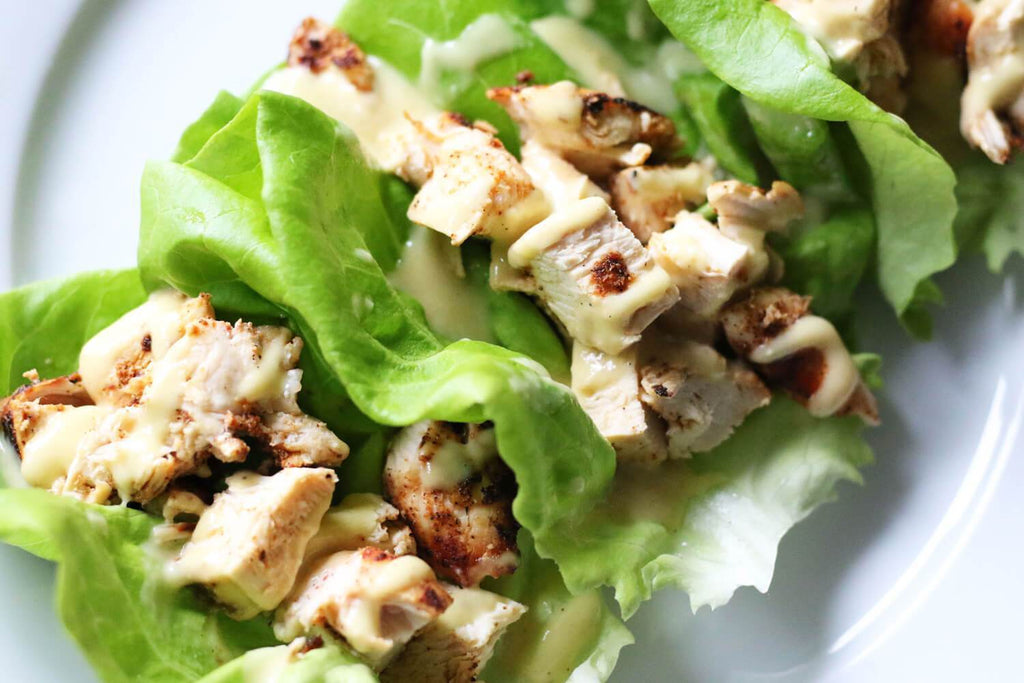 Low FODMAP Grilled Chicken Caesar Lettuce Wraps Recipe