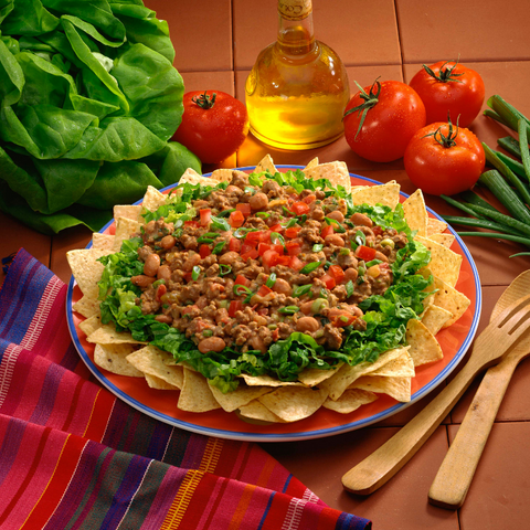 Low FODMAP Ground Beef Taco Salad Recipe