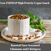 Low FODMAP High Protein Vegan Snack: Roasted Taco-Seasoned Edamame and Chickpeas