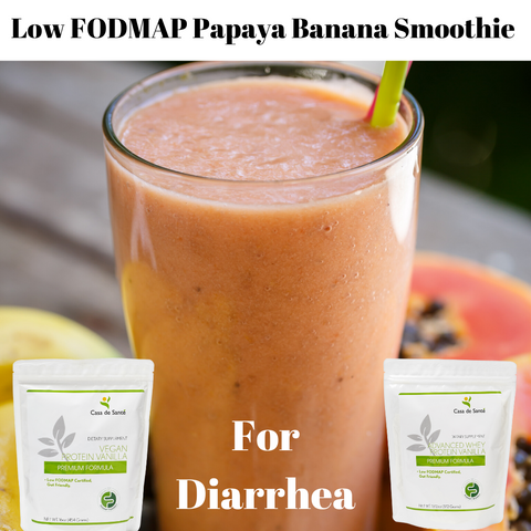 Low FODMAP Papaya Banana Smoothie
