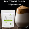 Low FODMAP Dalgona Protein Latte